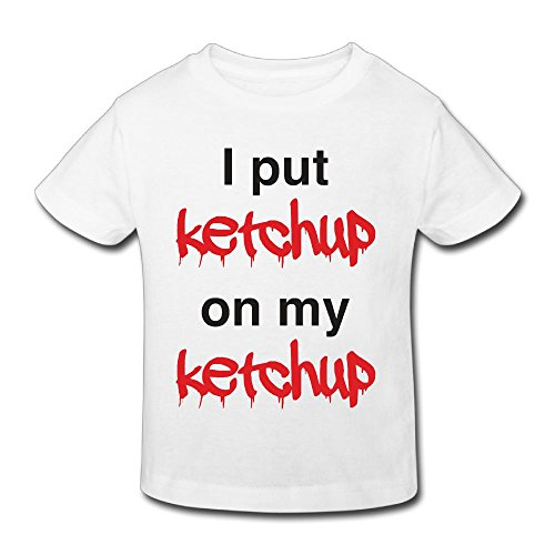 Hanxiaoxiao Boys I Put Ketchup On My Ketchup Funny Tennis White T-Shirts 3 Toddler Short Sleeve