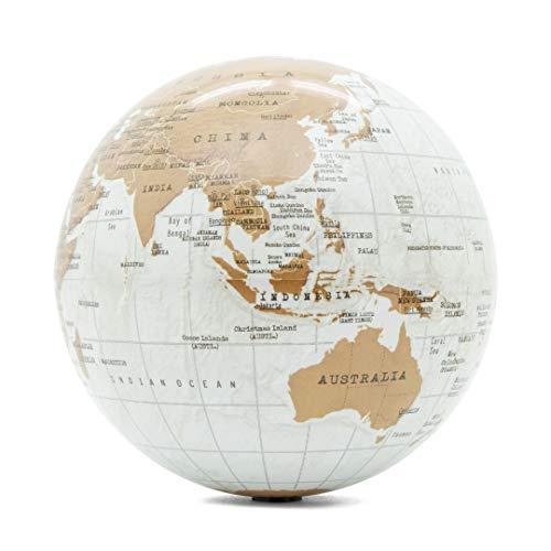 Luckies of London Globo Terraqueo Giratorio, Mapa del Mundo Autogiratorio, Accesorios de Escritorio de Oficina