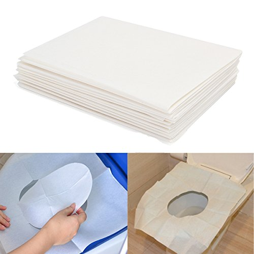 Decko Plastic Toilet Paper Holder (Corner Biz Bath - 10pcs Toilet Seat Covers Paper Travel Biodegradable Disposable Sanitary)