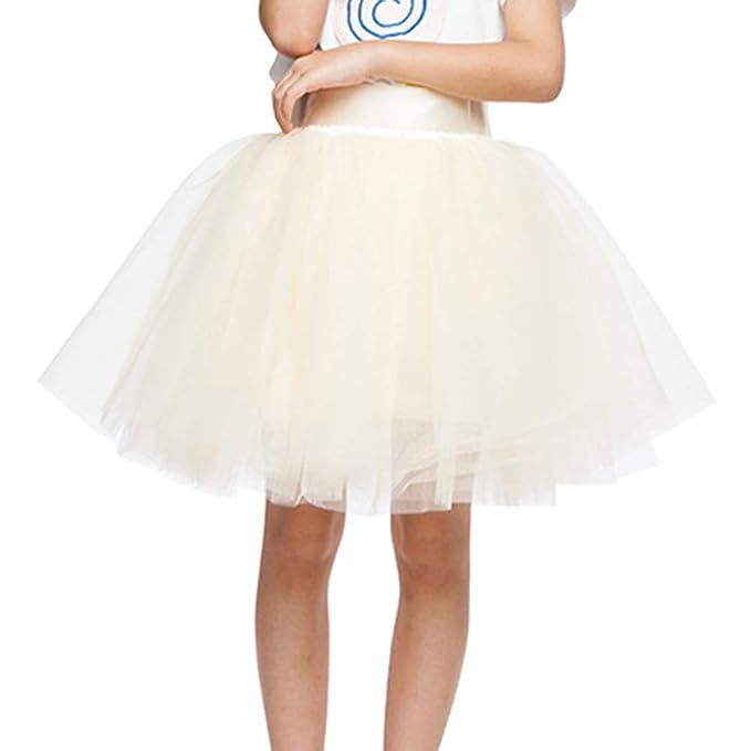 Mengyu Mädchen Kurze Minirock Tüllrock Petticoat Classic