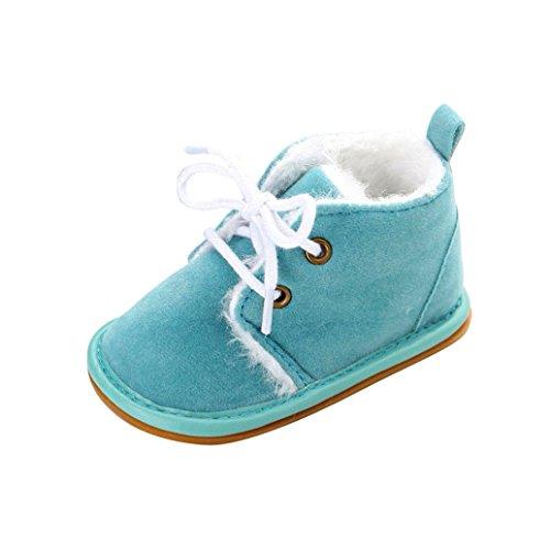 Huhu833 Kinder Mode Baby Stiefel Soft Sole, Keep Warm Schnee Stiefel, Kleinkind Stiefel Warm Schuhe (0-18 Month) Hell Blau