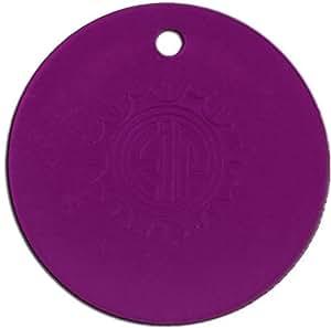 Tesla Purple Plate - Round Pendant