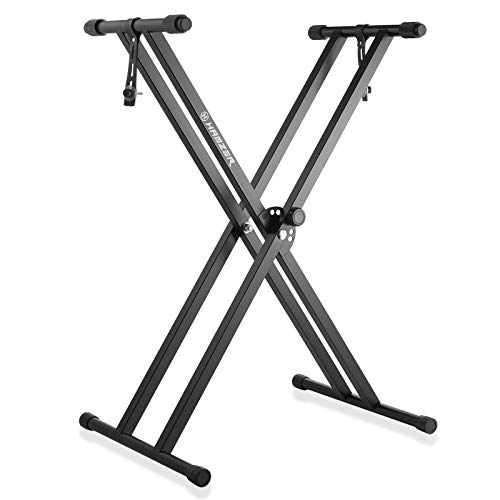 Hamzer Premium Heavy Duty Double Braced Adjustable X2 Style Music Piano Keyboard Stand