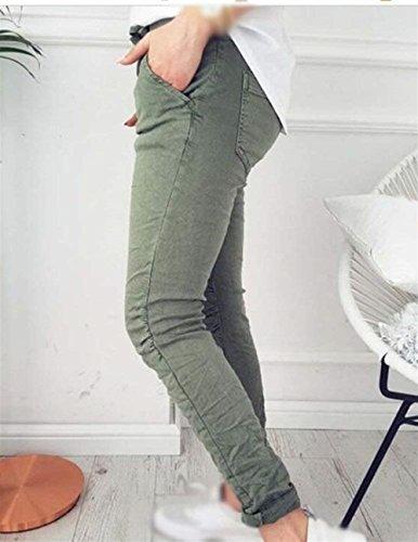 Eleganti Slim Pantaloni Monocromo marca Mode Con Tempo Pantaloni Elastico Libero A Armee BOLAWOO Trousers Per di Pantalone Fashion Coulisse Donna Pantaloni Matita gr Accogliente Donna qzRnPwt
