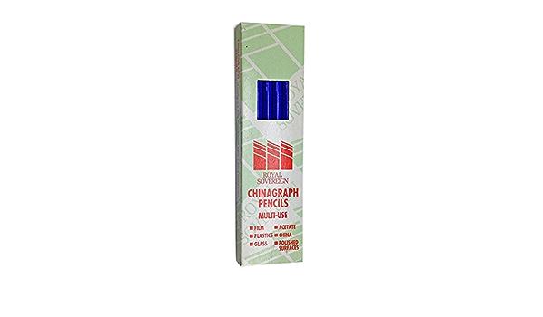 CHINAGRAPH Marquage Crayons-Boîte Noire de 12
