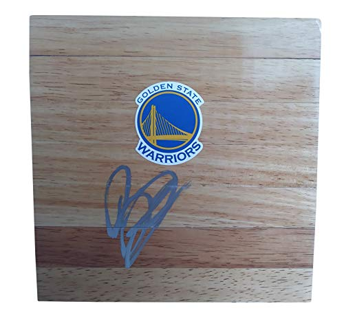 Baron Davis Warriors (Golden State Warriors Baron Davis Autographed Hand Signed Logo 6x6 Parquet Floorboard with Proof Photo of Signing and COA - Basketball Floor Boards- UCLA Bruins)