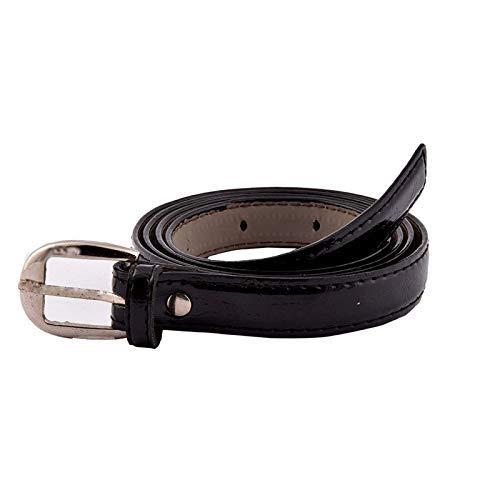 Uniq World Women's Ladies's Girl's Belt For Jeans Women's Belt For Casual Formal Dresses Black Belt Free Size (Fit On Upto 34 Inch Waist)