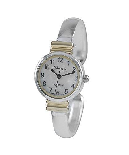 Platinum Geneva Bangle (Geneva Platinum Womens Quartz Bangle Watch, Gold)