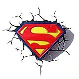 3DLightFX Warner Bros DC Comics Superman Crest 3D Deco Light For Sale