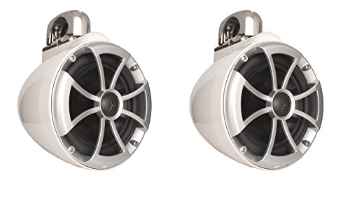 Wet Sounds ICON Series 8 inch Wakeboard Tower Speakers - White w/ Fixed Clamp by Wet Sounds (Image #1)