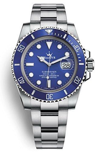Crown V9 SUB Swiss ETA 2836 Automatic Movement Watch Blue Dial Ceramic Bezel 116619lb