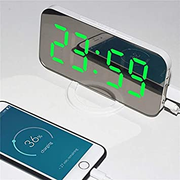 Digital Led Despertador Snooze Pantalla Espejo Reloj De Escritorio ...