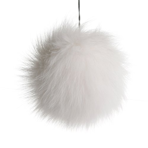 URSFUR Fox Pompon Fuzzies Fox Fur Ball Use for Mobile Strap Coppia Keychain (4
