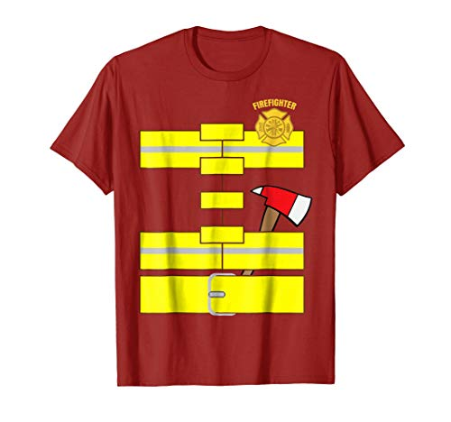 Easy Firefighter Costume Funny Adult halloween Costume ()