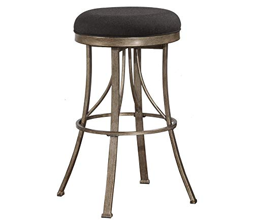 Indoor/Outdoor Bishop Backless Swivel Counter Stool Gold Decor Comfy Living Furniture Deluxe Premium Collection