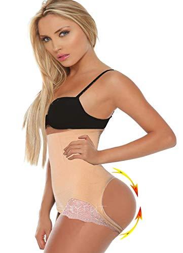 SAYFUT Women Shapewear Butt Lifter Waist Cincher Boy Short Tummy Control Panty,Nude,XL/2XL(Waist 28inch-34inch/Hip 34inch-44inch)