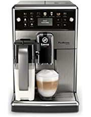 Saeco Espressomachine PicoBaristo Deluxe - 13 Koffievariëteiten - 4 gebruiksprofielen - Geintegreerde melkbeker - Keramische molen - Aanraakdisplay - Afneembare zetgroep - RVS - SM5573/10