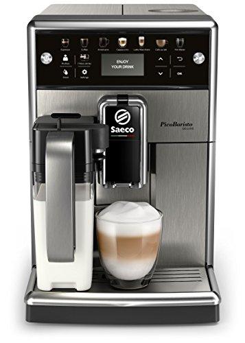 Saeco PicoBaristo Deluxe SM5573/10 – Máquina espresso automática de acero inoxidable con jarra de leche y botones…