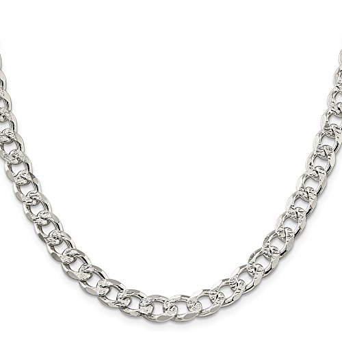 Sterling Silver 8mm Pav? Curb Chain by JOlivers