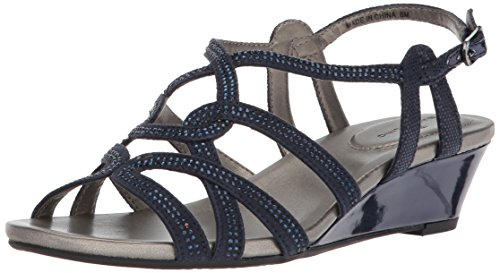 Bandolino Women's Galtelli Wedge Sandal, Navy, 7 M US