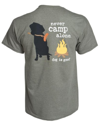 (Dog is Good Tee: Never Camp Alone T-Shirts - Great Gift for Dog Lovers )