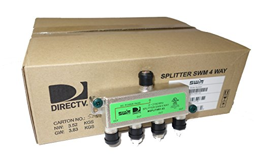 - DirecTV SWM Approved 4-Way Wide Band Splitter (case of 20)