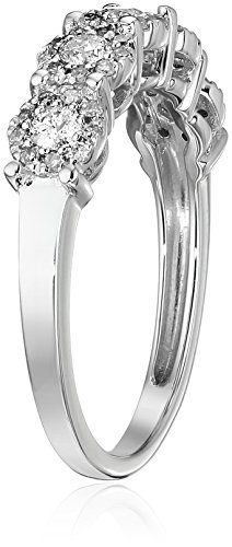 10k White Gold Diamond Anniversary Ring (1/2 cttw, H I Color, I2 I3 Clarity)