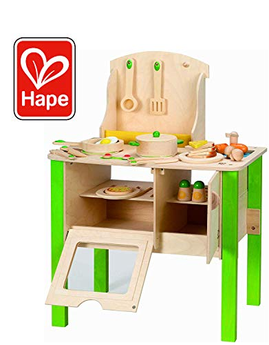 - Hape My Creative Cookery Club Kid's Wooden Play Kitchen