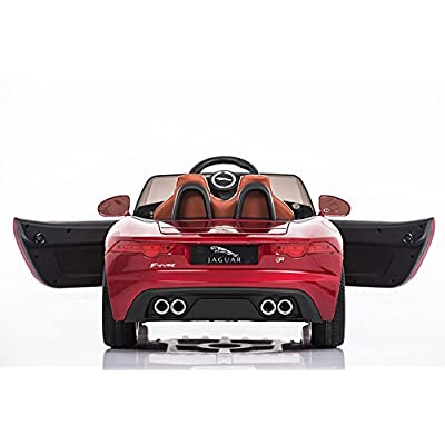 Jaguar Authorized Jaguar F-TYPE 12V Luxury Kids Ride On Car Battery Powered MP3 LED Door Open Kids Vehicle With Remote Control, Red: Toys & Games