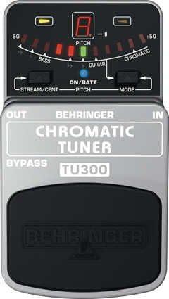 Afinador de pedal para guitarra y bajo Behringer TU300
