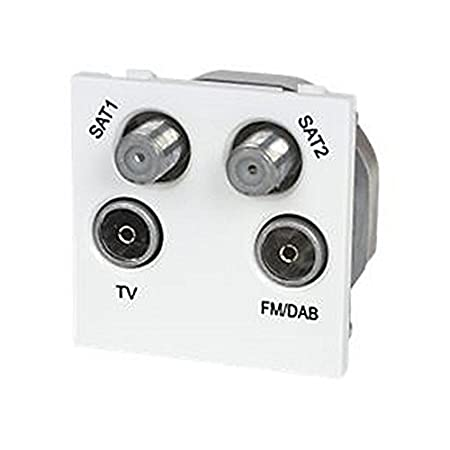 labgear screened quadplexed module white sat1 sat2 tv fm dab outlet rh amazon co uk