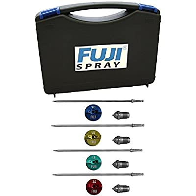 Fuji T-Aircap Set 1.0mm 1.5mm 1.8mm 2.0mm for T-Series Spray Gun in Storage case