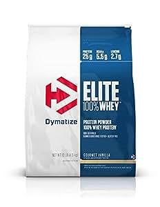 Dymatize Elite 100% Whey Protein, Gourmet Vanilla, 10 lbs