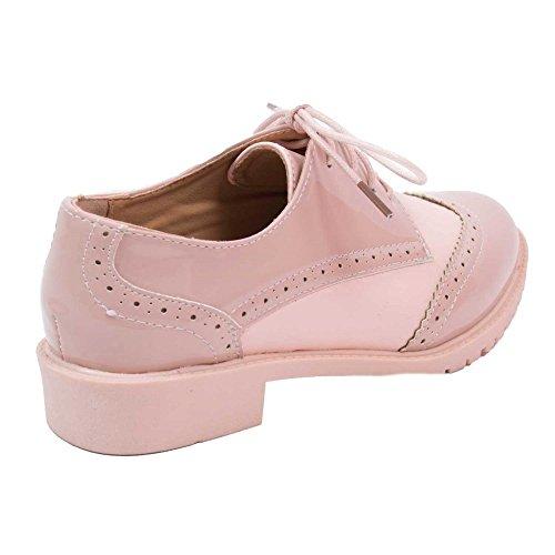 Primtex - Zapatos de cordones para mujer, beige (color carne), 39