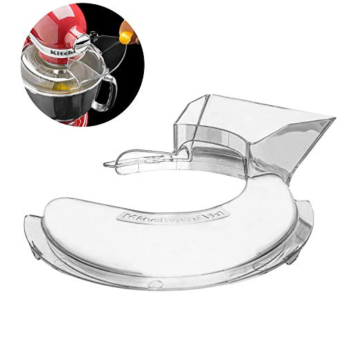 Ansblue Pouring Shield,Compatible with Kitchenaid 4-1/2 and 5-Quart Stand Mixers KN1PS KPS2CL - 1pcs