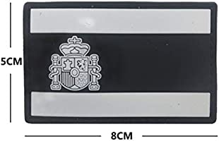 Ohrong España bandera nacional Espana PVC Morale Patch Ejército de combate Paintball insignia de goma Emblema Emblema Applique con gancho de respaldo para abrigos chaquetas Caps negro: Amazon.es: Hogar