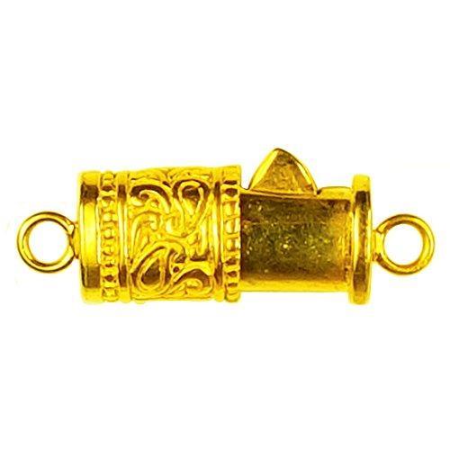 (18K Gold Overlay Single Hole Multi Strand Clasp CG-351-13X10MM)