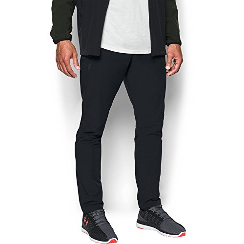 Under Armour Men's Wg Woven Pants, Black/Black, X-Large Tall