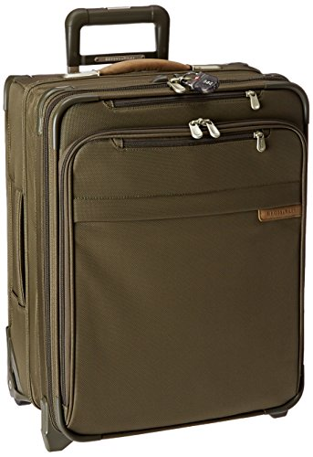 Briggs & Riley Baseline International Carry-On Wide Body Upright, Olive, - Baseline Luggage Riley & Briggs
