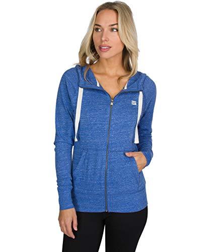 - Dry Fit Sweatshirts for Women, Lightweight Zip Up Hoodie Sweater - Full Zip Hooded Jacket True Blue