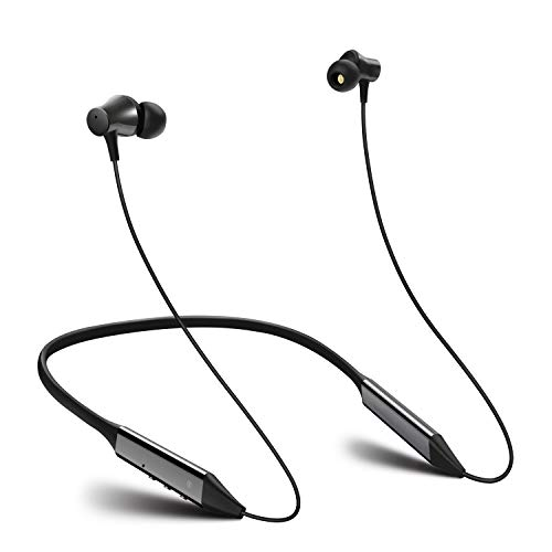 Active Noise Cancelling Wireless Headphones in Ear Magnetic Comfortable Neckband Earbuds Built in Mic for Drive (High+Black)