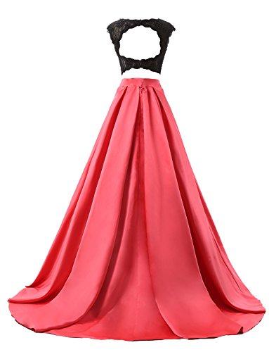 JYDress - Vestido - trapecio - para mujer Cameo Brown