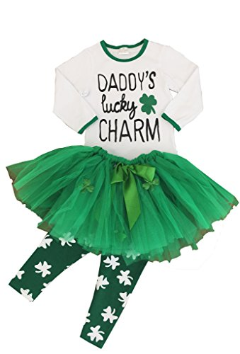 Angeline Boutique Clothing Girls ST Patrick's Day Tutu Skirt Outfit Set