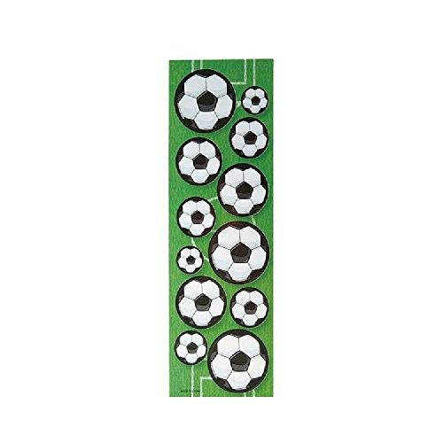 0.75''-1'' Soccer Ball Stickers by Bargain World