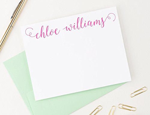 Personalized Stationery Set, Calligraphy, Personalized note