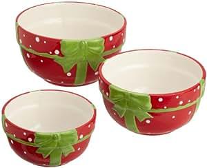 DII Polka-Dot Present Mixing Bowls, Set of 3