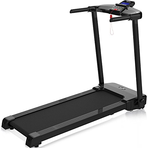 Merax Fitness Folding Treadmill – Electric Motorized Exercise Machine for Running Walking Easy Assembly