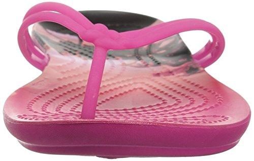 Graphic Crocs Pink Tropical Rosa Mujer Para Isabella candy Sandalias Flip flop r5wrzqv