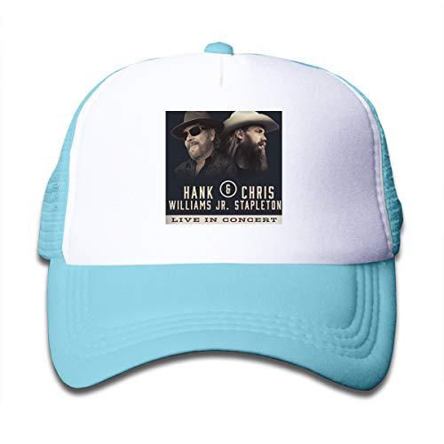 Wufive Hank Williams Jr & Chris Stapleton Unisex Children's Trucker Hats One Size Sky Blue ()