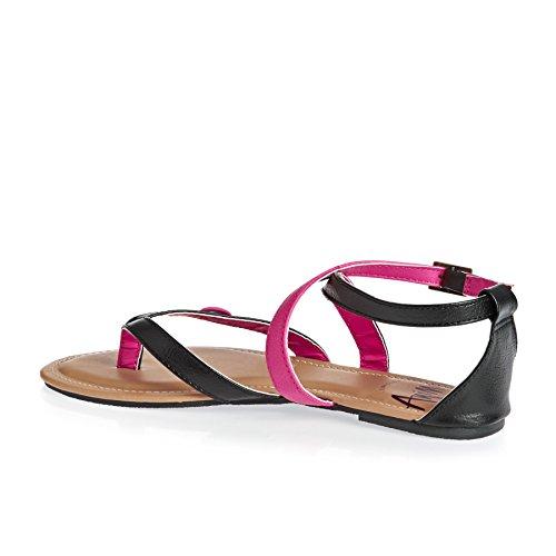 Animal Shoes - Animal Napa Sandals - Black
